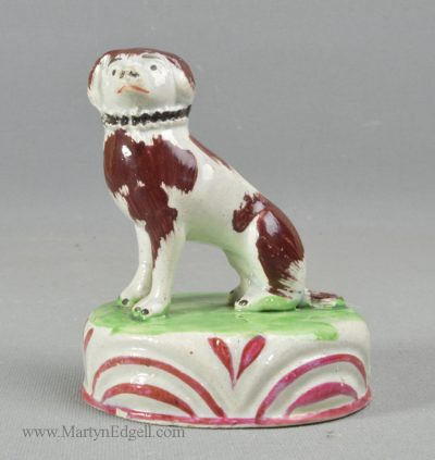 Antique pottery Staffordshire dog