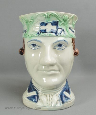 Antique pearlware pottery Admiral Rodney