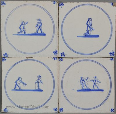 Antique Dutch Delft tiles