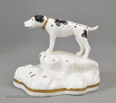 Antique porcelain pointer figure