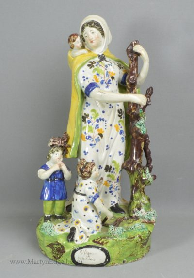 Antique pottery Staffordshire pearlware