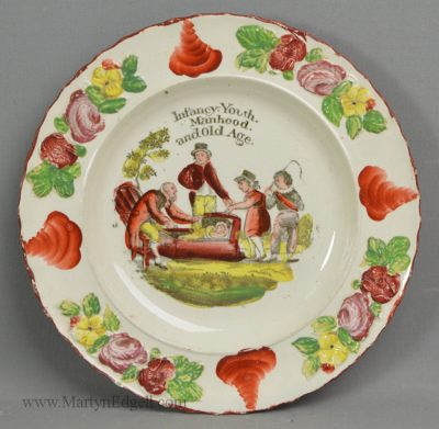 Antique pearlware child's plate