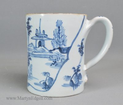 Antique pottery London delft mug