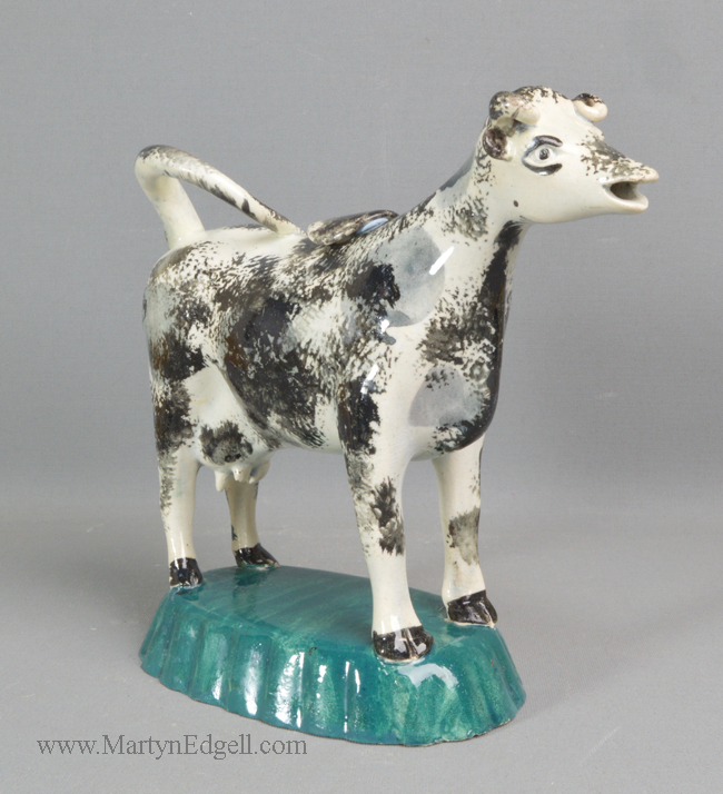 Antique pearlware cow creamer
