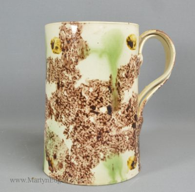 Antique pottery Whieldon mug
