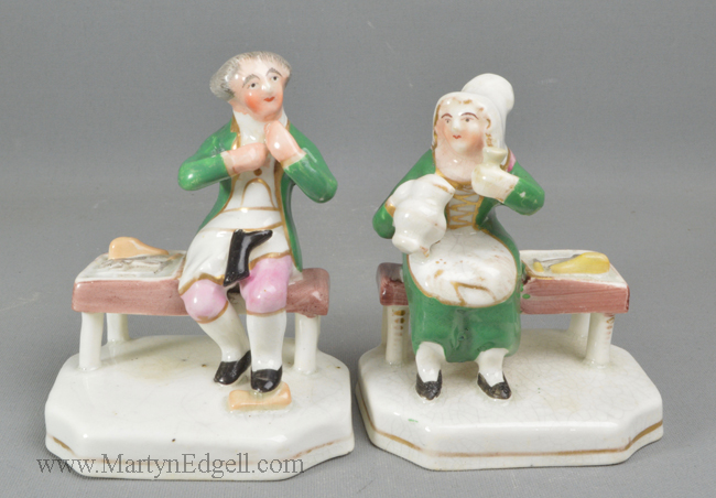 Antique Staffordshire porcelain cobblers