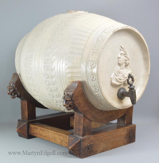 Antique Westerwald stoneware barrel