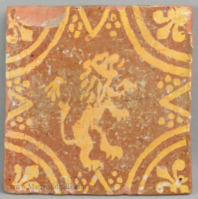 Antique pottery tile