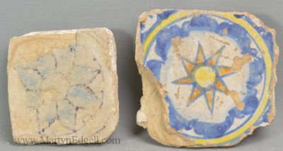 Antique Spanish pottery tiles