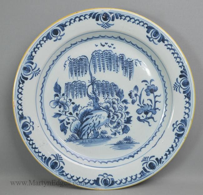 Antique pottery London delft charger