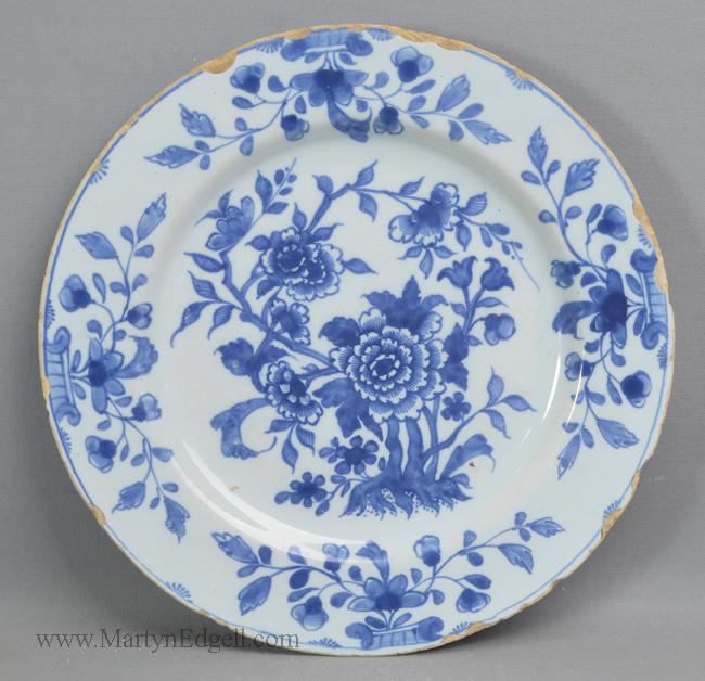 Antique pottery Liverpool delft plate