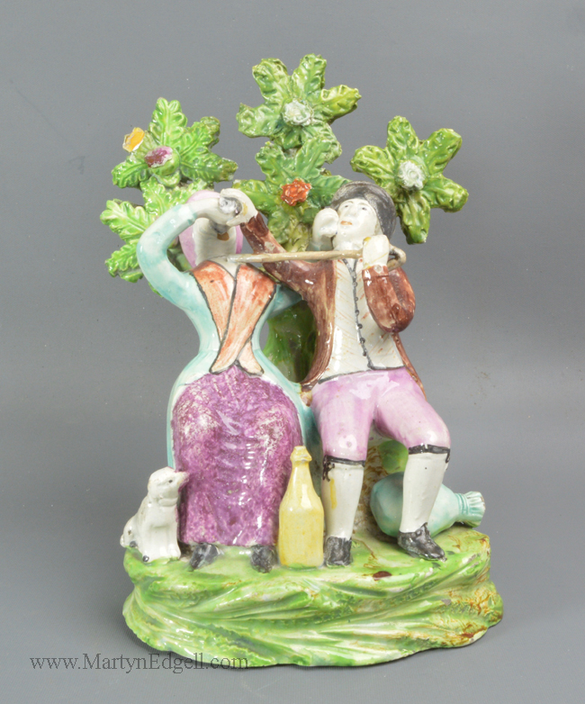 Antique Staffordshire pottery figure
