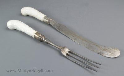 Antique Bow porcelain handles