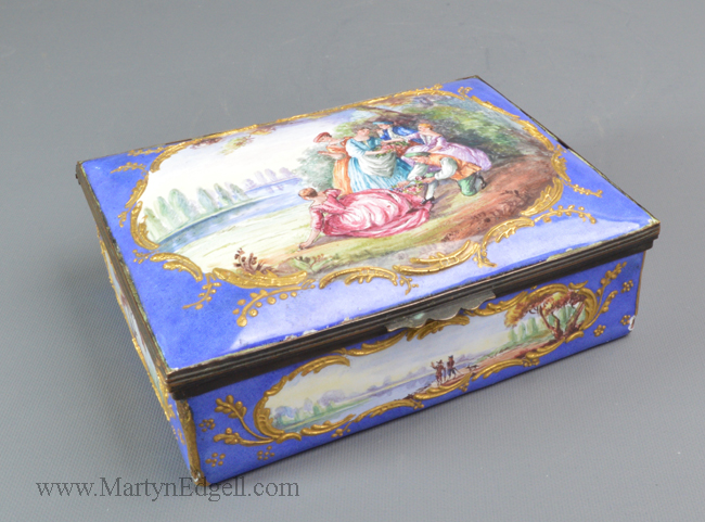 Antique French enamel box