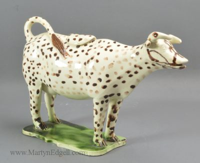 Antique creamware cow creamer