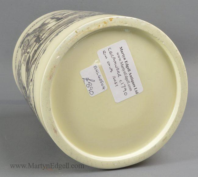 Antique creamware commemorative mug