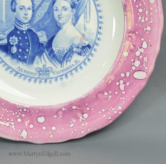 Antique lustre commemorative plate