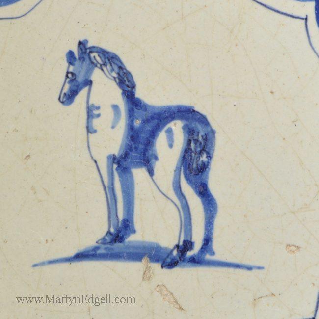 Antique pottery Dutch Delft tile