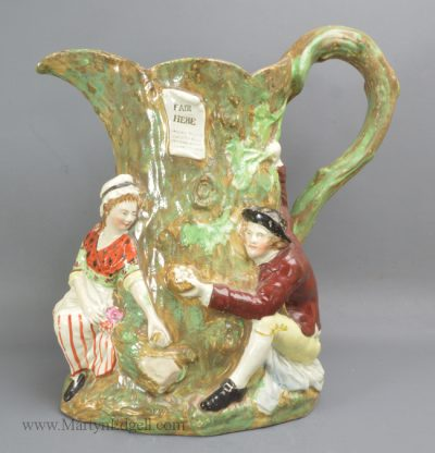 Antique pottery Fair Hebe jug