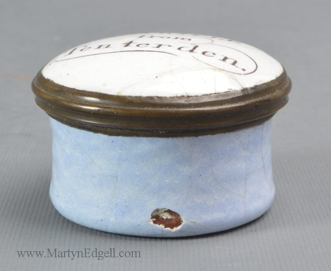 Antique Bilston enamel patch box