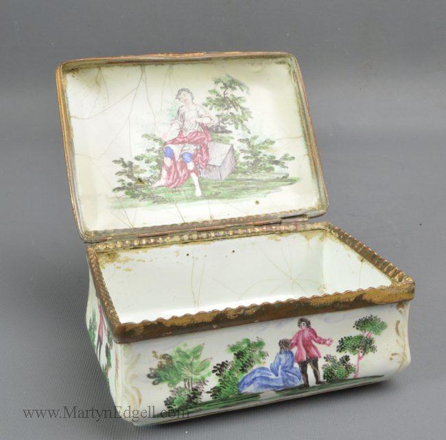Antique French enamel box