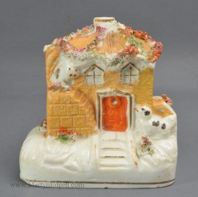 Antique pottery pastille cottage
