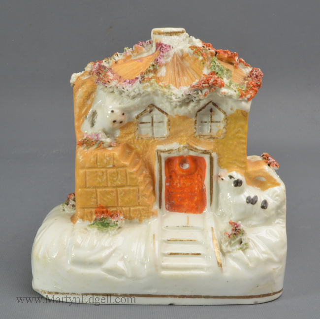 Antique pottery pastille cottage