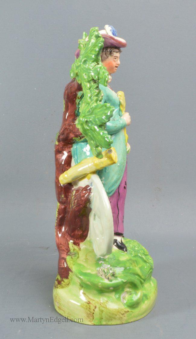 Antique Staffordshire bocage figure