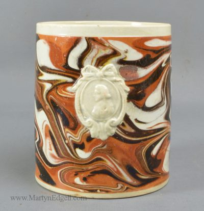 Antique mocha pottery mug