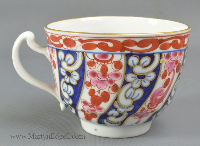 Antique Worcester porcelain cup and saucer