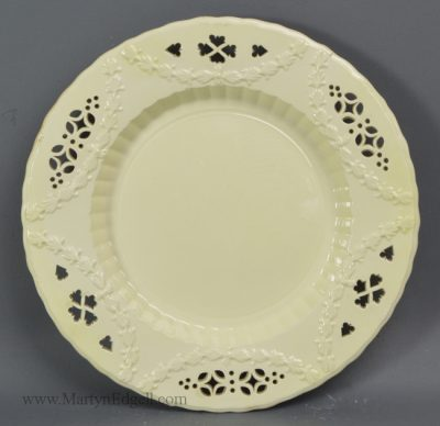 Antique creamware pottery plate