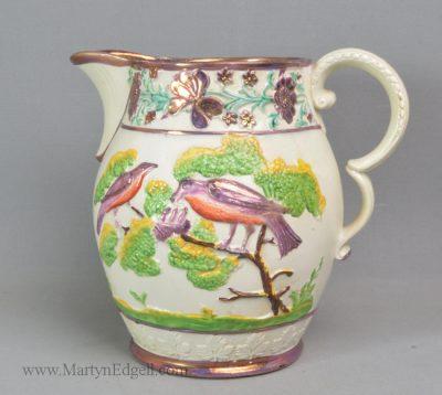 Antique lustre pottery jug