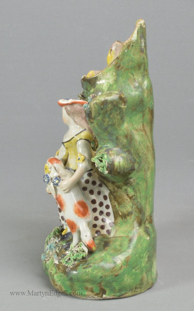 Antique pottery Staffordshire figure