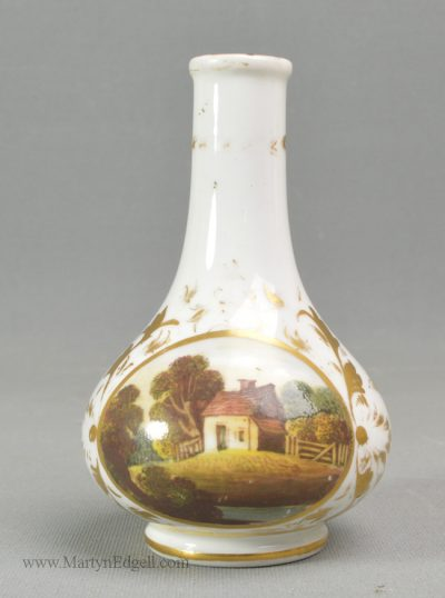 Antique Derby porcelain vase