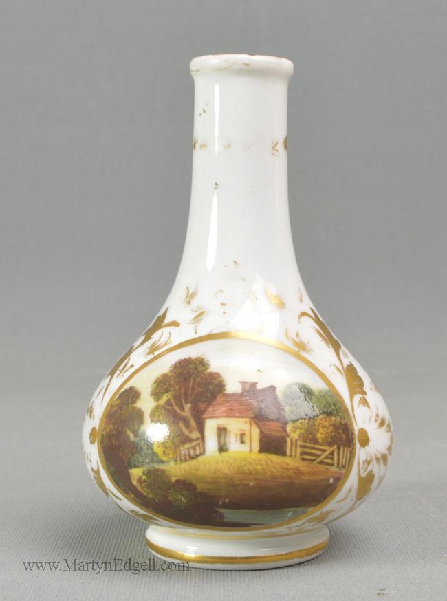 Antique Derby porcelain vase