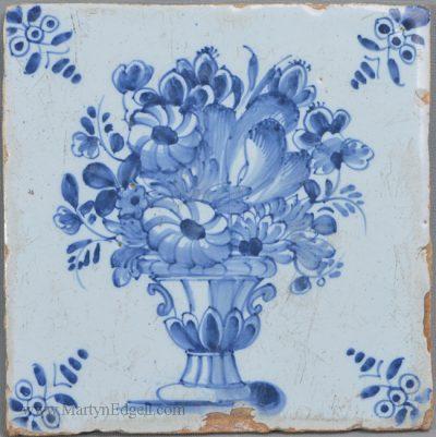 Antique pottery London delft tile
