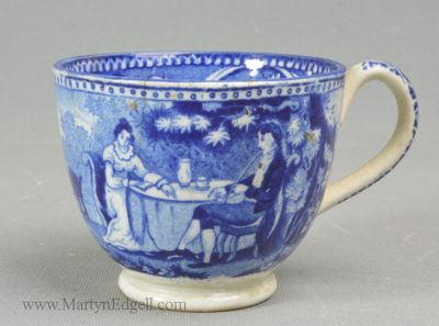 Antique pottery pearlware cup