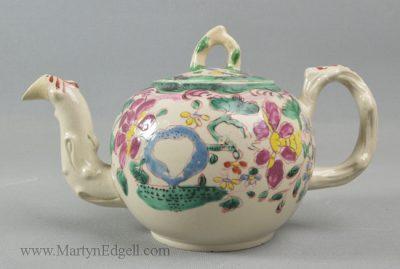 Antique saltglaze stoneware teapot