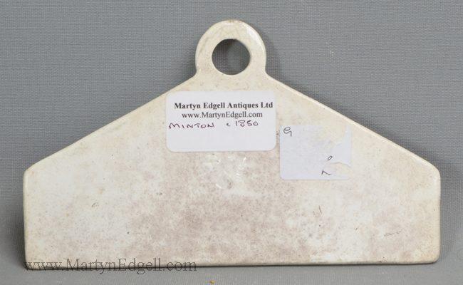 Antique Minton pearlware bin label