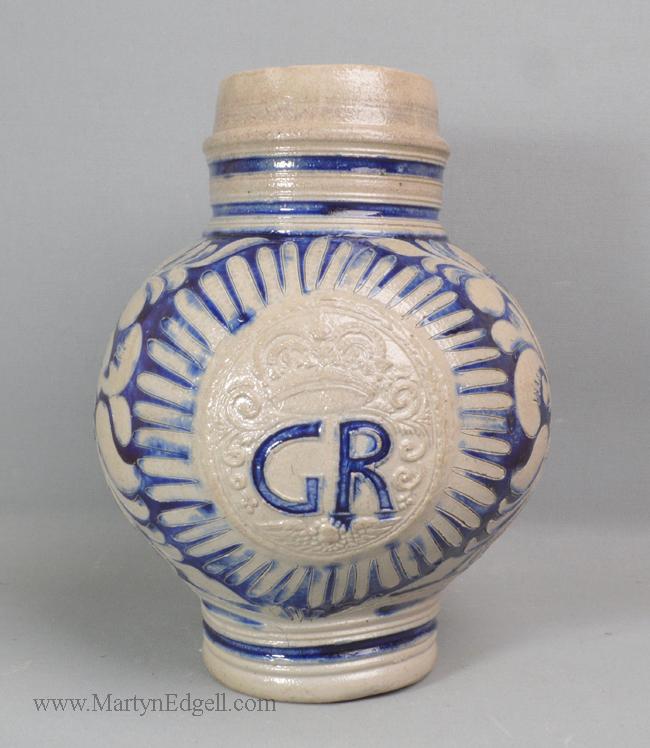 Antique Westerwald stoneware jug