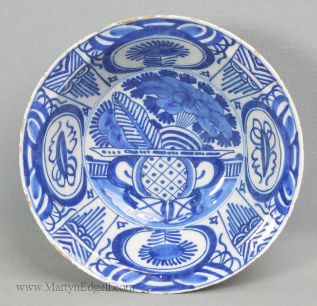 Antique pottery Dutch Delft bowl