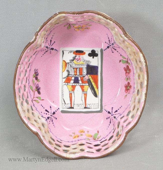 Antique enamel card tray