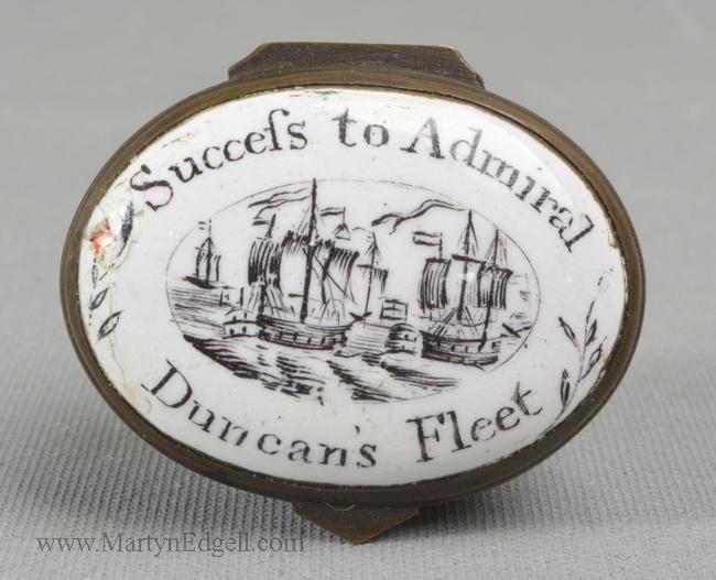 Antique enamel patch box