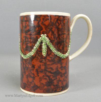 Antique creamware pottery mug