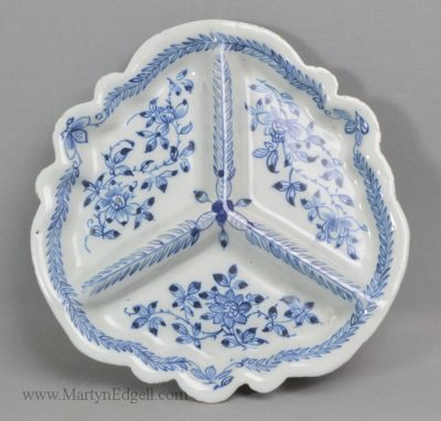 Antique Liverpool delft pickle dish