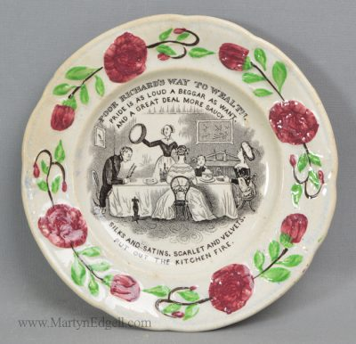 Antique pottery child's plate