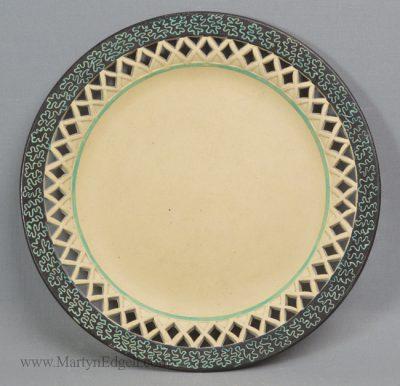 Antique Davenport caneware plate
