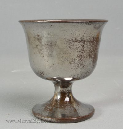 Antique lustre pottery goblet
