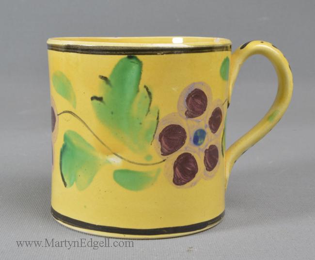 Antique canary yellow mug
