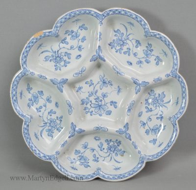 Antique Liverpool delft dish
